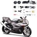 Kits de construção do modelo 1130cc motocicleta prata motocicleta modelo kits de construção 1/12 montagem de brinquedo caçoa o presente mini moto diy diecast
