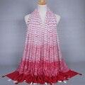 Новый дизайн printe полоса ombre популярные кабо шали чешские кисти вискоза летом обертывание мусульманин шарфы/шарф AW