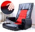 Braço Da Cadeira de Mobiliário de couro Sala de estar Piso 4 Cores Dobrável Assento Ajustável Cadeira Do Sofá Sofá Reclinável Poltrona Lounge