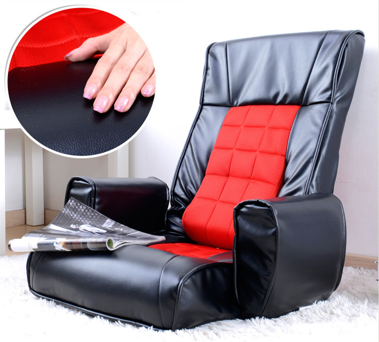 leather furniture arm chair living room 4 colors floor foldable seating adjustable sofa chair daybed reclining - Chair Living Room