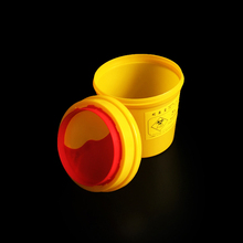 2L Capacity Sharps Container Medical Needles Bin Biohazard Tattoo Piercing Disposal Collect Waste box  2pcs