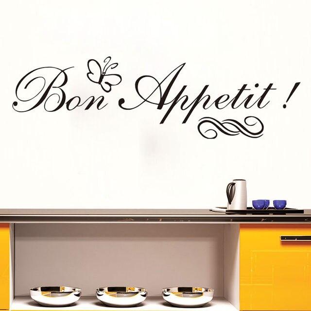 Online Shop Bon Appetit Muurstickers Met Vlinder Frans Spaans Dieet ...