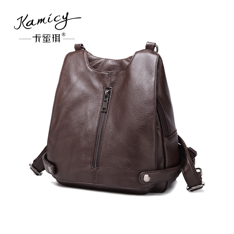 200ad1b1a12a Kamicy Lady s bag 2018 new head layer cowhide bag double shoulder bag  fashion simple casual backpack. US   64.80  piece. 2018 Genuine Leather  Women bags ...