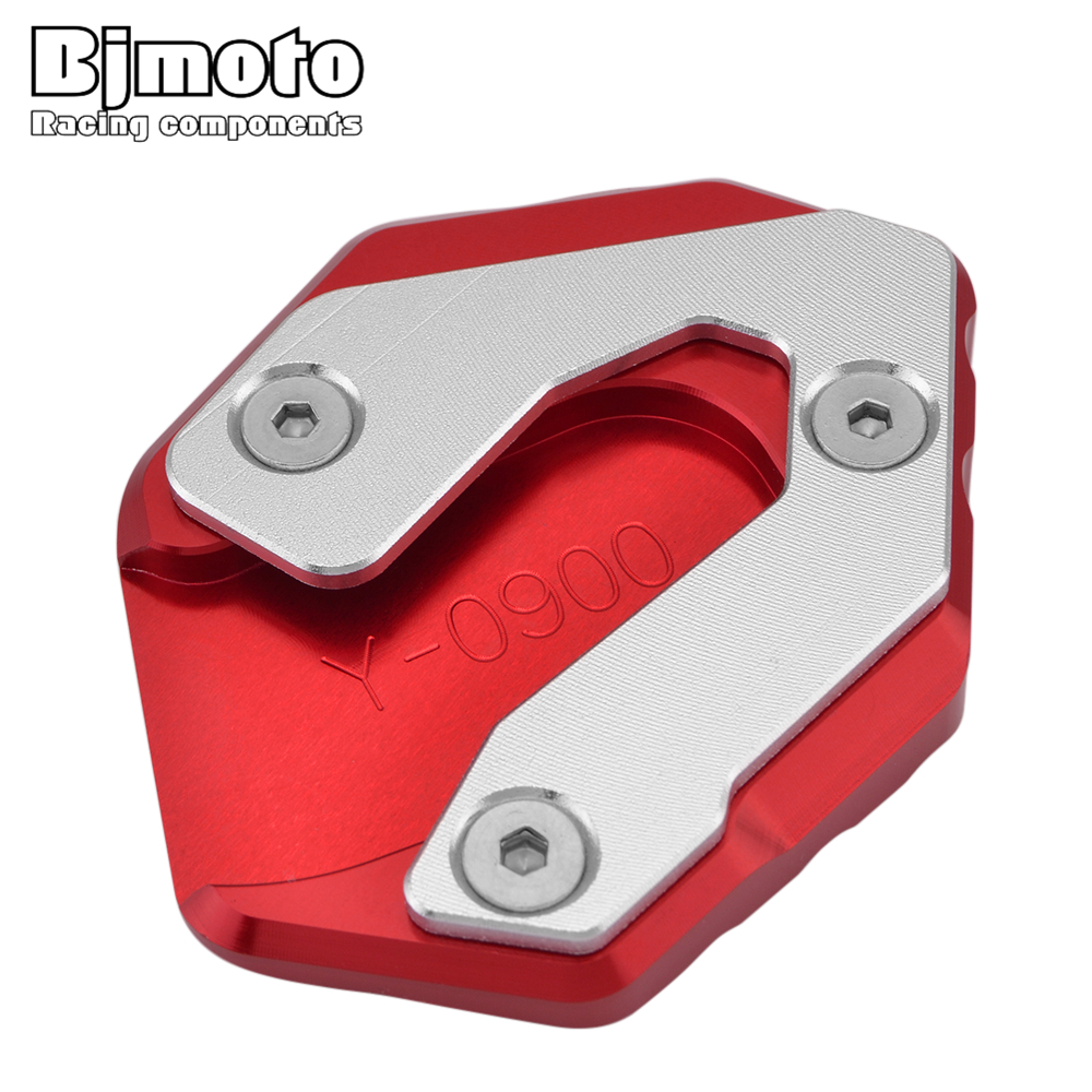 BJMOTO Motorcycle Side Stick Stand Plate Enlarge For YAMAHA XSR900 Abarth MT-09 Tracer 900 GT Kickstand Extension Base Pad Yamaha XSR900