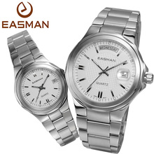 EASMAN a Pair Watches Couple Lovers Fashion Casual Calendar Waterproof Quartz WatchGift For Lovers Laides Mens Wristwatches