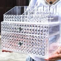 Enlargement Acrylic Transparent Cosmetic Storage Box Desktop Finishing Dresser Lipstick Makeup Box