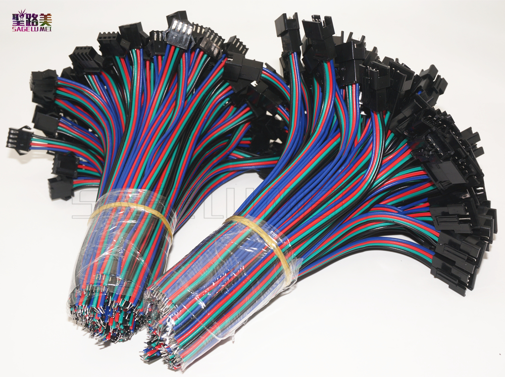 2pin 3pin 4pin 5pin led connector Male/female JST SM <font><b>2</b></font> 3 <font><b>4</b></font> 5 <font><b>Pin</b></font> Plug Connector Wire cable for led strip light Lamp Driver CCTV image