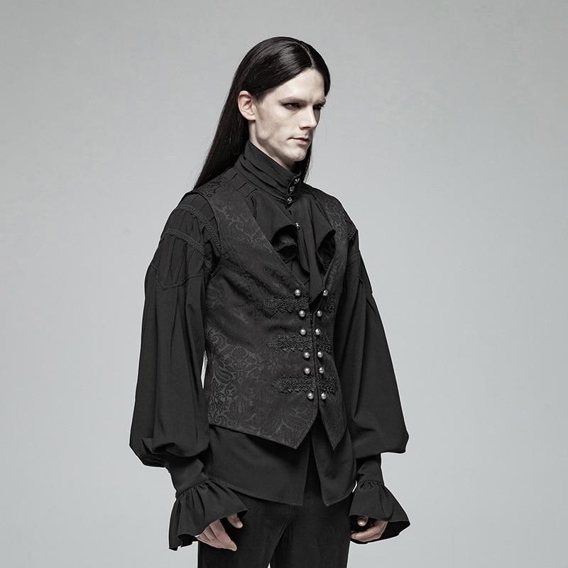 PUNK RAVE Men Gorgeous Gothic Retro Waistcoat Fashion Steampunk Metal Buckle Palace Vest Victorian Men 39 s Jacquard Vest Waistcoat in Vests amp Waistcoats from Men 39 s Clothing