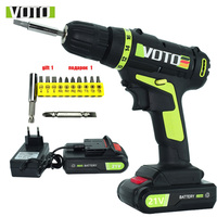 21V professional electric torque screwdriver electric drill electric Screwdriver2battery screwdriver cordless drill power tools