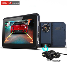 Junsun Car GPS Navigation 7 inch Android Radar Detector DVR Rear View Automobile Navigator Europe/Navitel Map truck gps sat nav