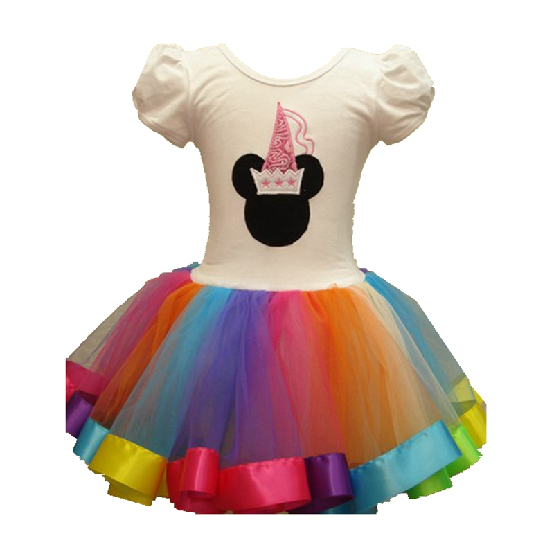 Fantasia Minnie Girls Dresses Lace Tutus Vestidos Girl Party Dress Infant Christmas Costumes for Kids Clothes Children Clothing baby girl infant 3pcs clothing sets tutu romper dress jumpersuit one or two yrs old bebe party birthday suit costumes vestidos