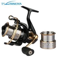 Trulinoya FS2000 Spinning Fishing Reel+1 Metal Spare Spool Saltwater Lure Fishing reel 8+1BB Gear Ratio 5.2:1