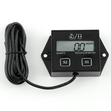 1pc Hour meter motorcycle Tachometer 2&4 Stroke gasoline Engine Spark For Boat/Motocross/Bike 12V CAR LCD display hot selling