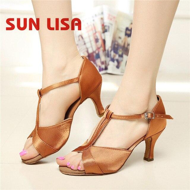 5 Salón Zapatos Y Latino Tacones Altos Con Cm Tango 7 De Cm Baile Salsa Rqj54ALc3