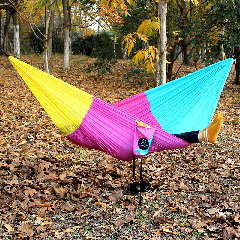 The Double Bed Tent Mosquito Net Hammock Can Be Camped Out In The Field