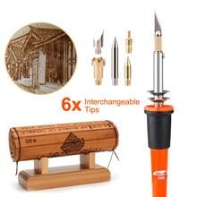 Adjutable Electric Soldering Iron Woodburning Solder Pen Wood Burning Pen Sets Digital Soldering Iron Tool kit New UK Plug