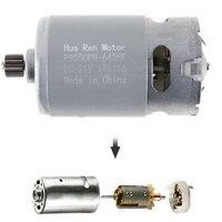 RS550 12 В 16,8 В 21 В 13500 об./мин. DC мотор с одного Скорость 9 зубы и высокий крутящий момент Шестерни коробка для Беспроводная зарядка дрель шурупов...