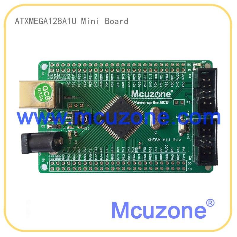 ATxmega256A3U EK development board,12Bit ADC and DAC,7 USARTs, PDI