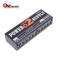 Aluminum Case CP 02 10 way Output Guitar Effect Pedal Power Supply with Blue Led indicator Light and Portable