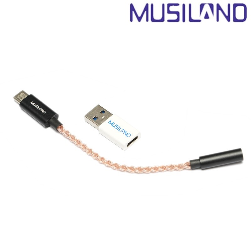 Musiland MU1 TYPE C portable phone headphone amplifier sound card Earphone cable 3 5mm Headset Adapter