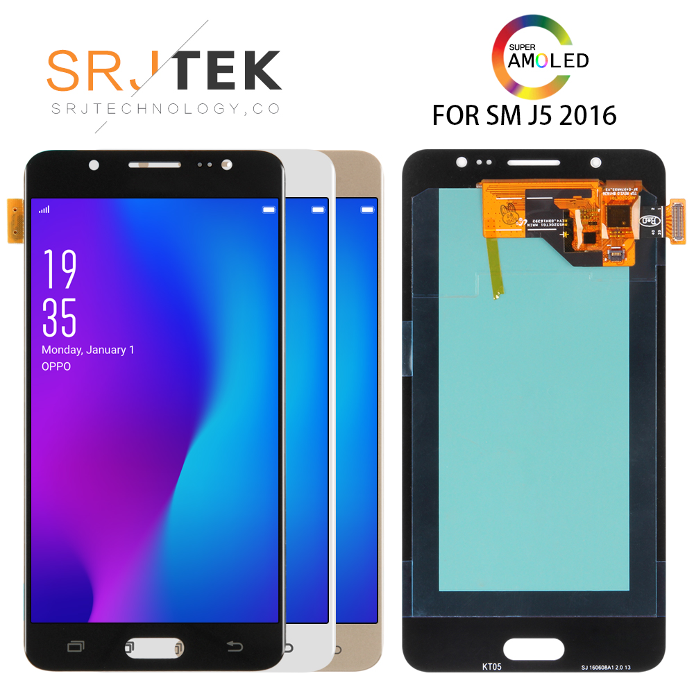 5.2 ''AMOLED pour Samsung Galaxy J5 2016 J510 SM-J510F J510FN J510M J510Y J510G remplacement de l'assemblage de l'écran tactile d'affichage à cristaux liquides