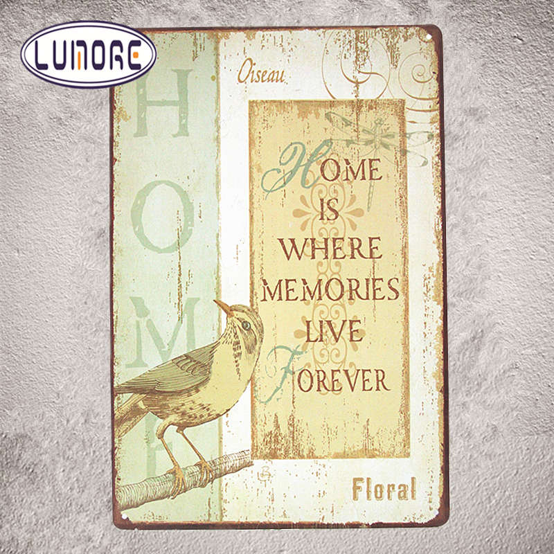 ①HOME IS WHERE LIVE VINTAGE Tin Sign Bar pub home Wall Decor Retro ...
