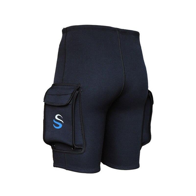 NEW SLINX Black 3mm Neoprene Wetsuit Tech Shorts Snorkeling Scuba Diving Equipment Surfing Trunks Submersible Pocket Pants diving equipment