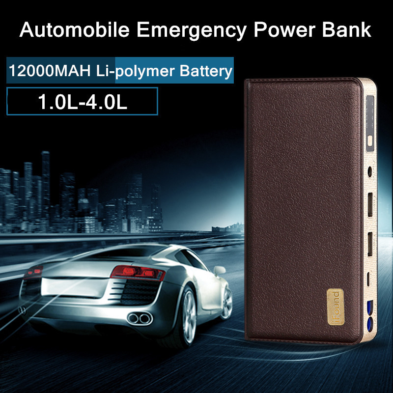 Free DHL Automobile Emergency Start Power Bank Fire Maker 12V Li-polymer 12000mAh Car Motorcycle Jump Leads Battery Starter USB original romoss polymos 10 air 10000mah dual usb li polymer power bank