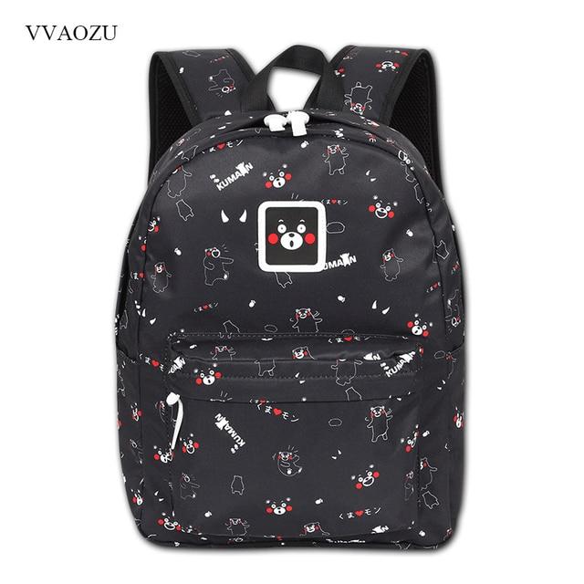 2c63f54ddc0b Kumamon Backpack For Girls Boys Cute Mochila Escolar Women Backpacks School  Bags Female Rucksack Laptop Schoolbag Mochila