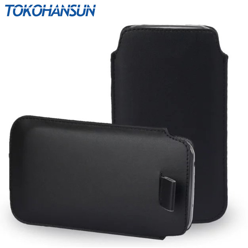 TOKOHANSUN For <font><b>Nokia</b></font> 500 <font><b>130</b></font> 105 2017 ASHA 300 500 PU Leather Pull Tab Sleeve Pouch Bag Case <font><b>Cover</b></font> Cell Phone Cases Bags Shell image