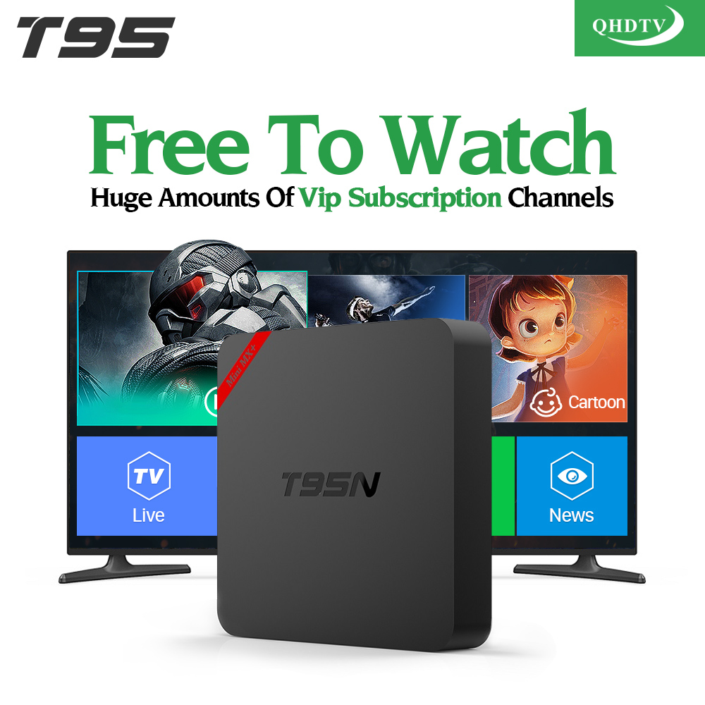 Arabic IPTV Box T95N Android 6.0 Smart TV Box S905X 1300 IPTV Channels QHDTV Code Subscription UK French Italy Germany IPTV Box brand new deck mounted chrome single handle bathroom