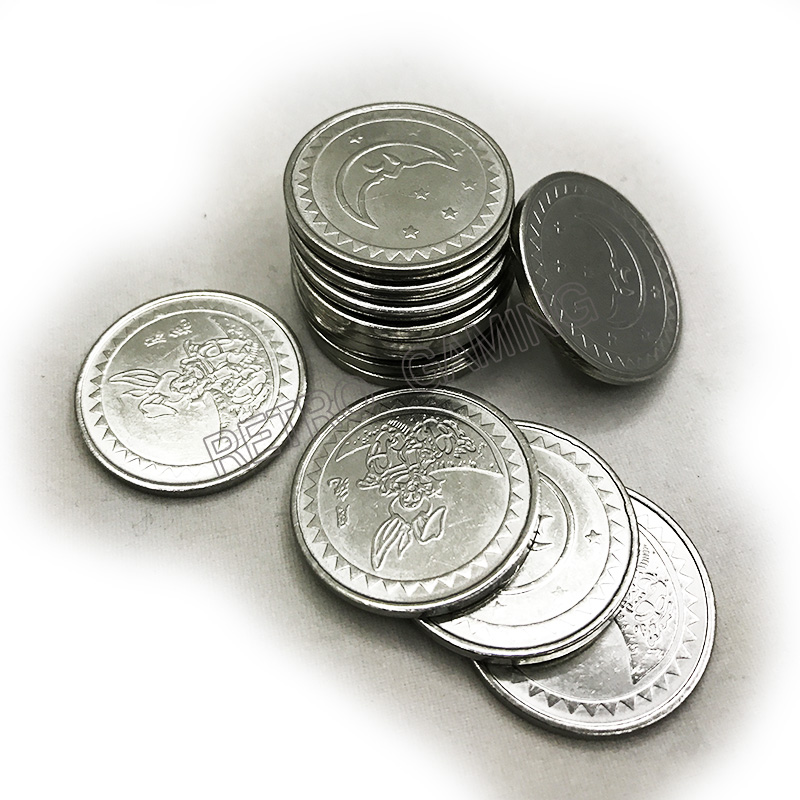 100pcs/bag Arcade Amusement Park 25*1.85mm Game Machine Coin Token Stainless Steel Token Coin Made In China Game Token