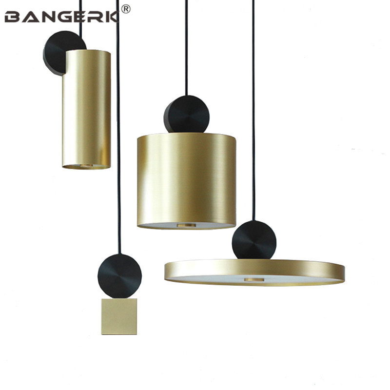 Nordic Design Gold Luminaire Modern LED Pendant Lights Iron Loft Deco Hanging Lamp Pendant Lighting Dining Room Light Fixtures