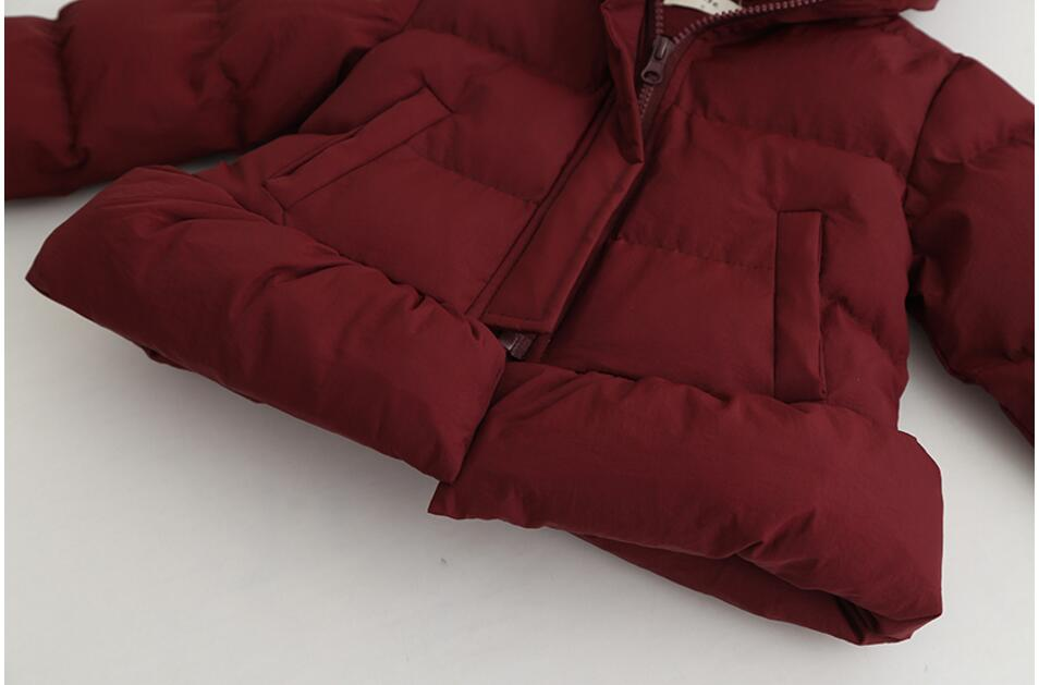 Fille printemps veste rouge à capuche enfants veste pour vêtements d'extérieur fille hiver bébé tenue parkas enfants boutiques vêtements ver - 5