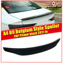 Fits For Audi A4 B9 FRP Unpainted Rear Trunk Boot Lip Spoiler Tail Coupe Belgium Style Boot Lip wing Spoiler car styling 2017-in