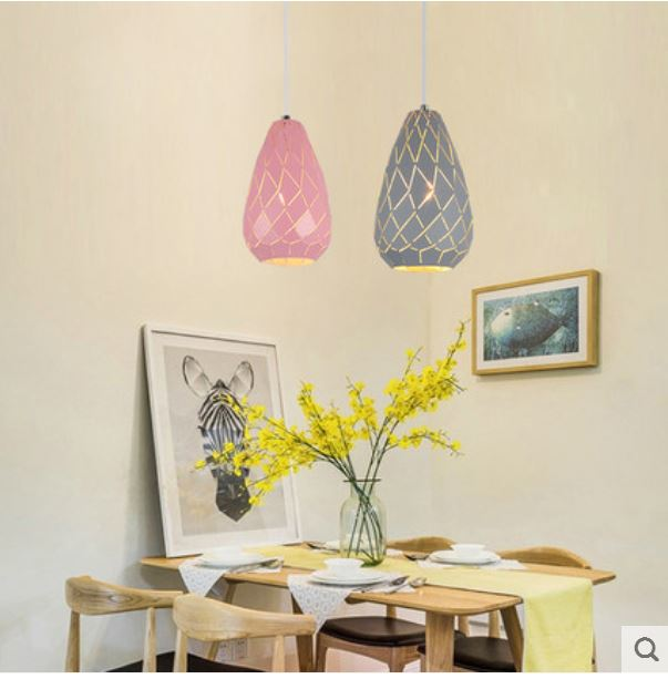 Nordic restaurant chandelier table lamp creative personality dining room lamp modern minimalist wrought iron bar chandelier