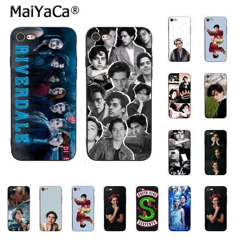 MaiYaCa American TV Riverdale Series Cole Sprouse DIY Painted Phone Case for iPhone 8 7 6 6S Plus X XS MAX 5 5S SE XR 10 Cover