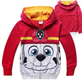 3-8 Age Children Hoodies with Zippers Kids Sweatshirts Boys Girls Cartoon Children Clothing Cotton Boy Girls Dog Patrol Clothes