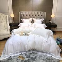 Top order Tencel Bedding Set Luxury Widening and hollowing out Bed Set Queen King Size Bed Sheet white Duvet Cover Set Bed Linen