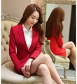 Spring Fall Formal Red Blazer Women Skirt Suits Jacket Sets Elegant Ladies Business Suits OL Style Free Shipping