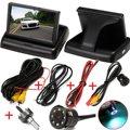 Assistência De Estacionamento Auto LED Night Vision Car Câmara de Visão Traseira com 4.3 polegada de Vídeo LCD a Cores de Carro Retrovisor Dobrável Monitor de