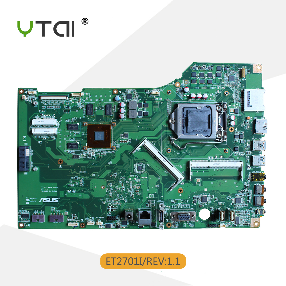 YTAI pour ASUS ET2701I carte mère tout-en-un REV1.1 LGA1155 DDR3 USB3.0 carte mère de bureau 100% testé