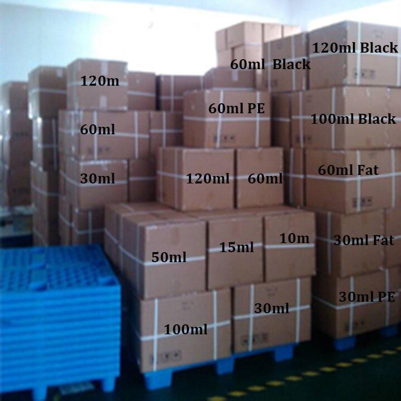 1000pcs PET Fat long Plastic Dropper Bottle Empty E Liquid Bottles 10ml 15ml 30ml 60ml 100ml
