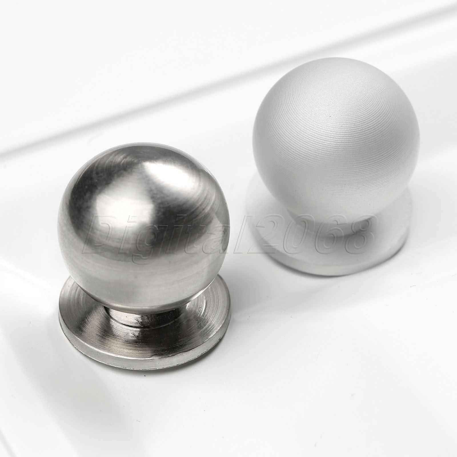 Hot New Silver Round Metal Furniture Cabinet Tone Door Drawer Cabinet Wardrobe Cupboard Ball Pull Handle Knobs furniture drawer handles wardrobe door handle and knobs cabinet kitchen hardware pull gold silver long hole spacing c c 96 224mm