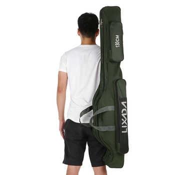 Lixada 80cm/130cm/150cm Fishing Bag Portable Folding Fishing Rod Reel Bag Pole Gear Tackle Tool Case Carrier Travel Storage