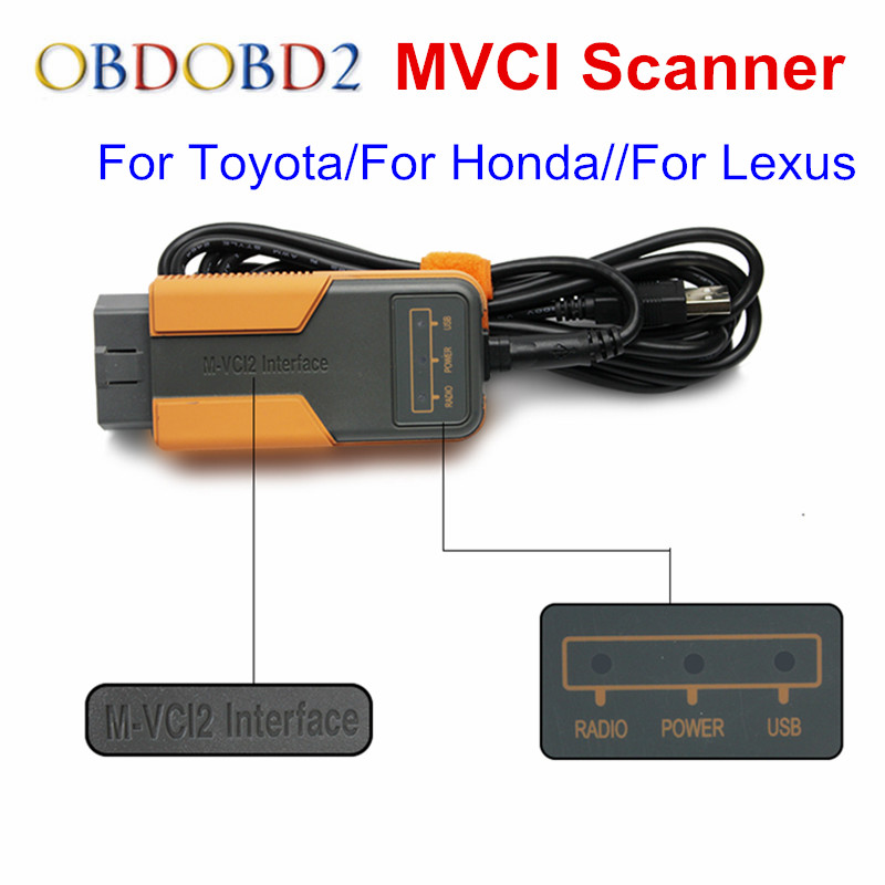 MVCI 3 IN 1 V10.30.029 For Toyota TIS Techstream MVCI Car Diagnotic Tool For Honda/For Lexus/For Volvo OBD2 Diagnostic Cable