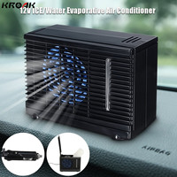KROAK Car Air Conditioner 12V 2 Speed Portable Mini Home Car Cooler Cooling Fan Water Ice Evaporative Car Air Conditioner Black