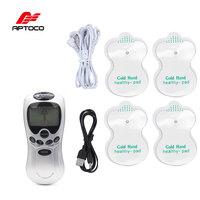 Aptoco Десятки Иглоукалывание Электрический цифровой терапии средства ухода за кожей Шеи спины машина массаж Электронный Импульсный