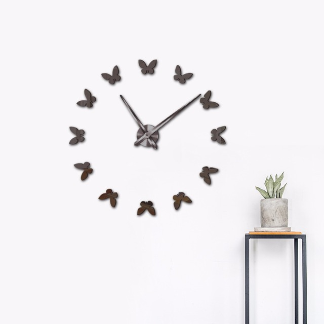 New Wall Stickers Home Decor Poster Diy Europe Acrylic Large Mirror Life Clock Horse Erfly Decorative