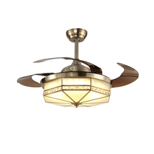 High Power 220V Ceiling Fan Lights Remote Control 3 Colors Lamp 36W Indoor Decor Living Room Tricolor Light